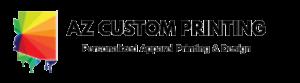 AZ Custom Printing black logo