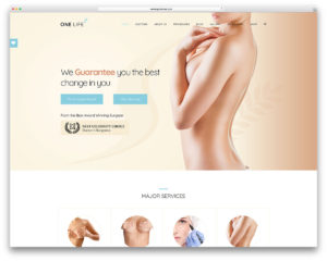 onelife plastic surgery wordpress theme